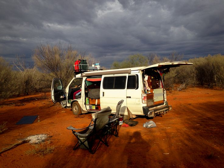 Camping in outback Central Australia.