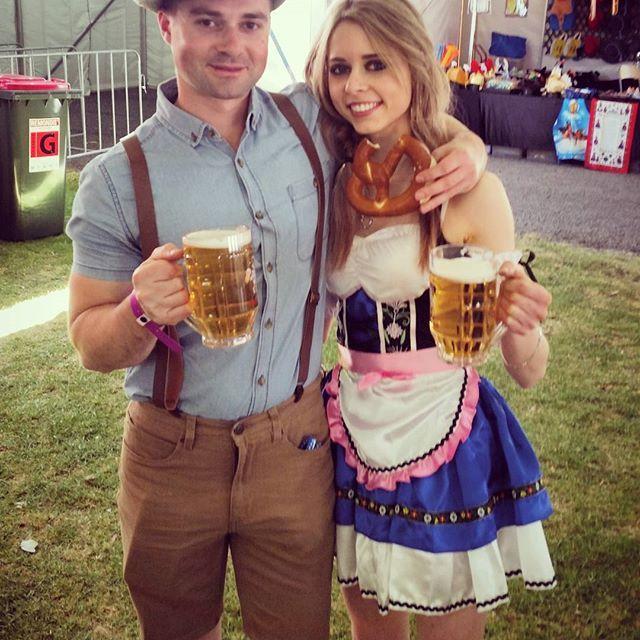 And.... Its started  @oktoberfest @kemblagrangegermanclub :) #beer #oktoberfest #costume #fun #drink #drunk #deutschland #german #folk #costume #festival #beermaid #aussie #australia #celebrate #celebration @timmyshiels #friends #wollongong #bavarian #wench #dressup #thisismyeurope