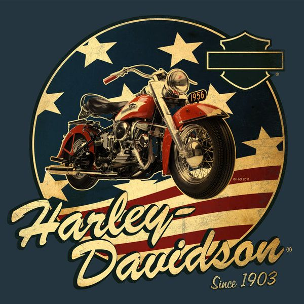 Harley davidson artwork | Harley-Davidson Summer Shirt 1 by ~Click-Art on deviantART