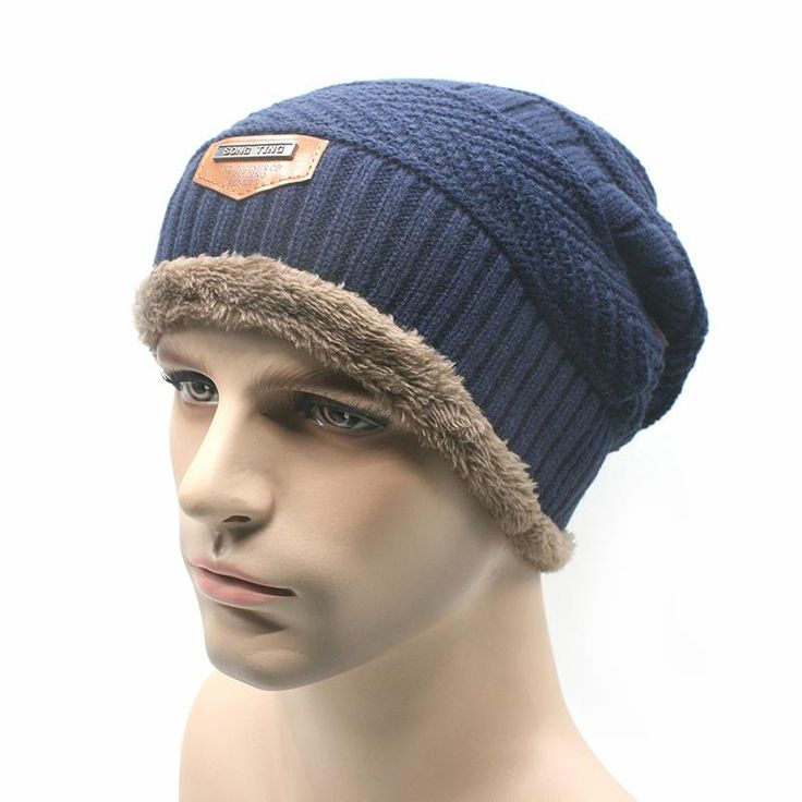 Mens Winter Hat Beanie Warm skullies Casual Cap Two layers Have thick $9.69 => Save up to 60% and Free Shipping => Order Now! #fashion #woman #shop #diy www.scarfonline.n...