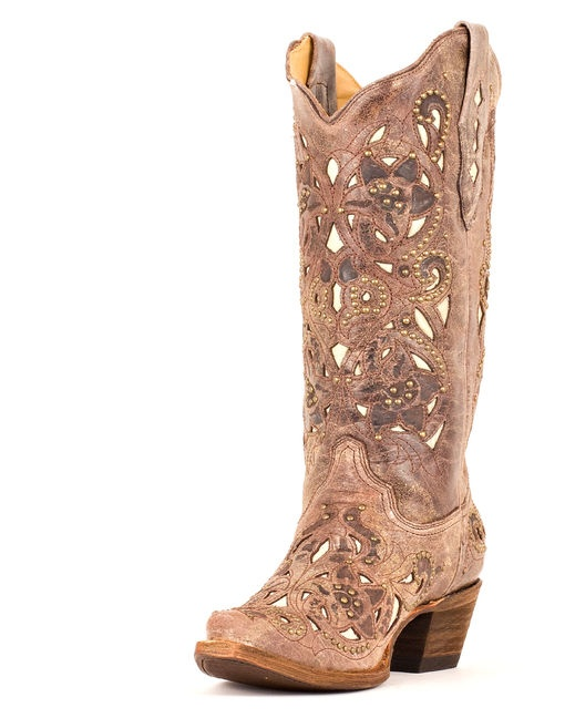 Definitely my favorite. Women's Brown Crater Bone Inlay & Studs Boot. Why must you be so expensive?!