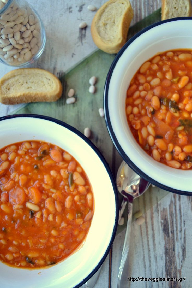Greek traditional bean stew: a great winter comfort food