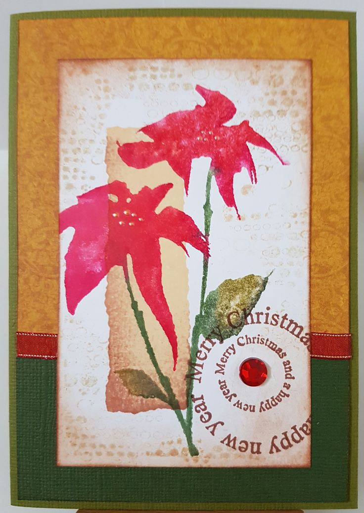 Silhouette Poinsettia 3039K by Penny Black; Christmas Circles 3385D by Stamp-it; Blips 40-382 & Color Patch 2 by Penny Black. Card by Susan of Art Attic Studio