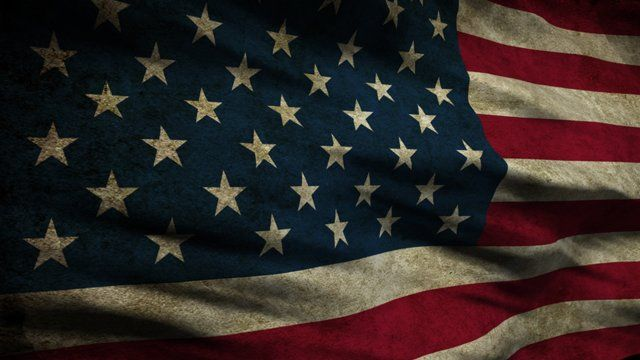 Stock video - http://www.alunablue.com - royalty free stock footage for broadcast, corporate promotions and all multimedia productions.   Old Glory 0106: A grungy American flag waves in the breeze (HD Loop).   A Luna Blue Stock Video.  Imagery for Your Imagination.