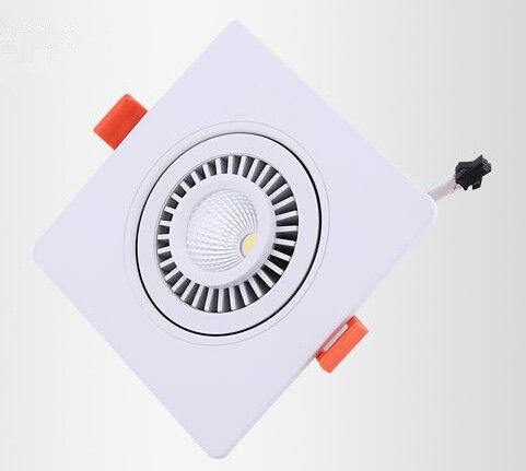 Free shipping High Quality aluminum Dimmable led COB Ceiling Down light 10W square led downlights 360 degree rotation AC85-265V #Affiliate