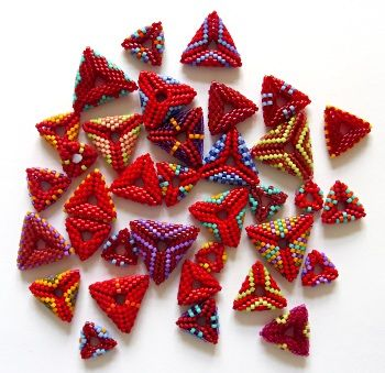 Making a triangle bracelet now. These are cool with smaller insides. Liking 3d beading