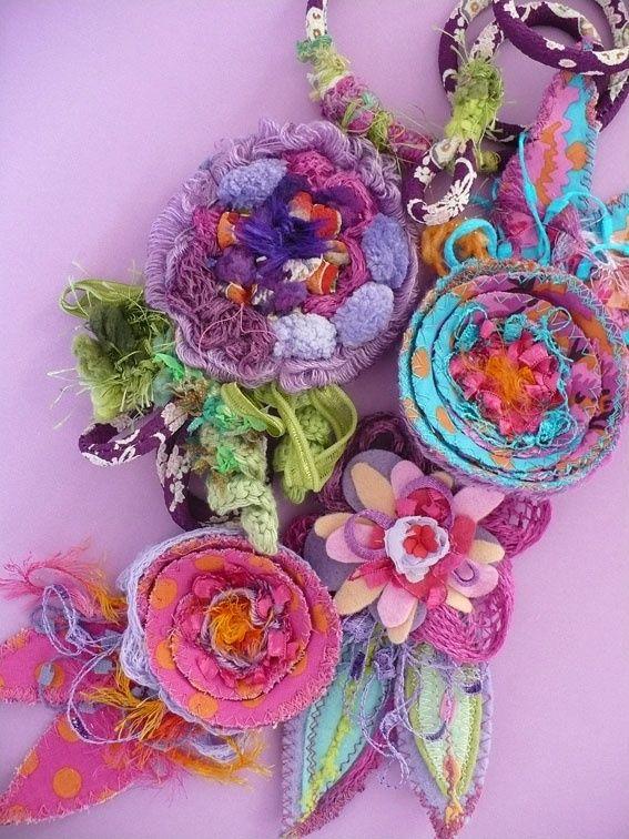 Beautiful fabric flowers by Elena Fiore