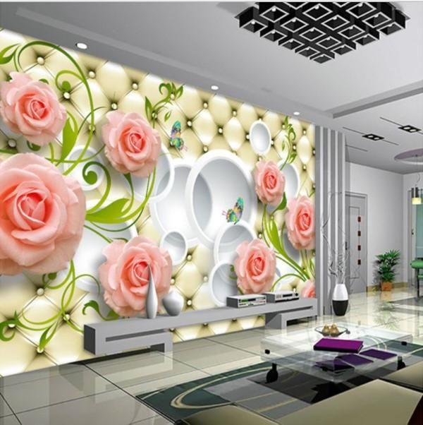 Flowers Floral 3D Wall Mural Bedroom Designer Wallpaper Murals