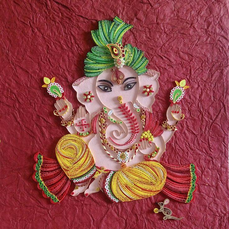 Quilled Ganesha, Quilled Ganpati, Ganpati Bappa Morya