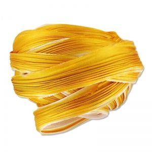 Nastro di seta Shibori Ecru Gold x10cm : Intreccio di seta 100% pura seta.