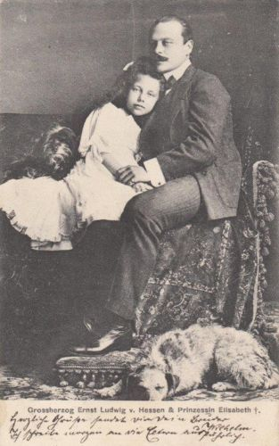 Grand-Duke-Ernst-Ludwig-of-Hesse-with-lovely-Princess-Elisabeth-RARE-1900-pcd