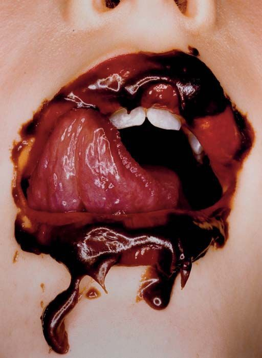 Chocolate mouth. Photo: Irving Penn, 2000.