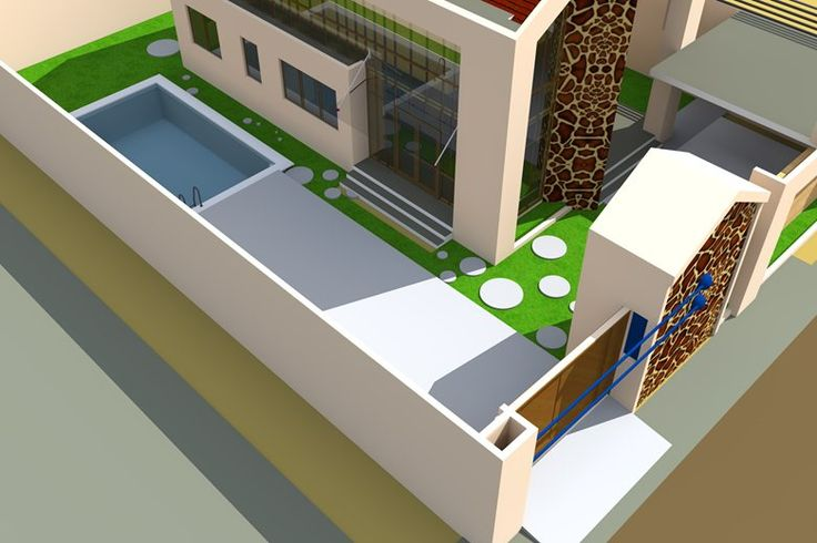 Projet de villa moderne a lome au togo architecture tribal - Architecture de villa moderne ...