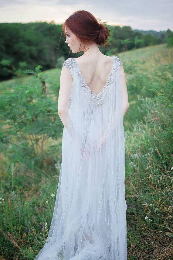 Bohemian wedding dress // Jasmine by CarouselFashion on Etsy