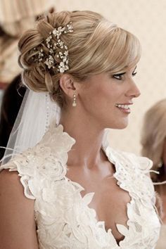 Wedding Hairstyles for Medium Hair with Veil Images