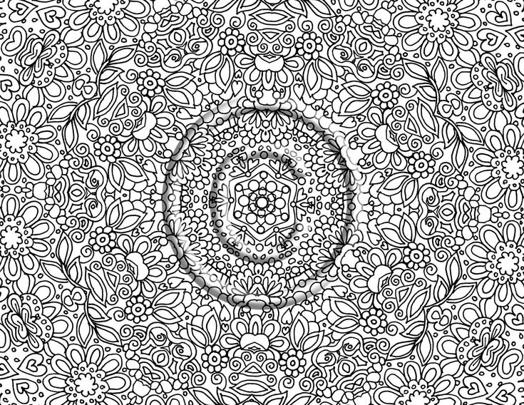 Very Advanced Coloring Pages | Very Detailed Coloring ...