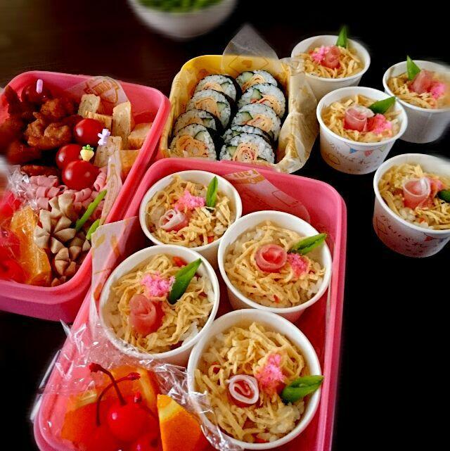 うさかめ's dish photo 運動会のお弁当  2016   http://snapdish.co #SnapDish #お弁当 #運動会 #ちらし寿司の日(6月27日)
