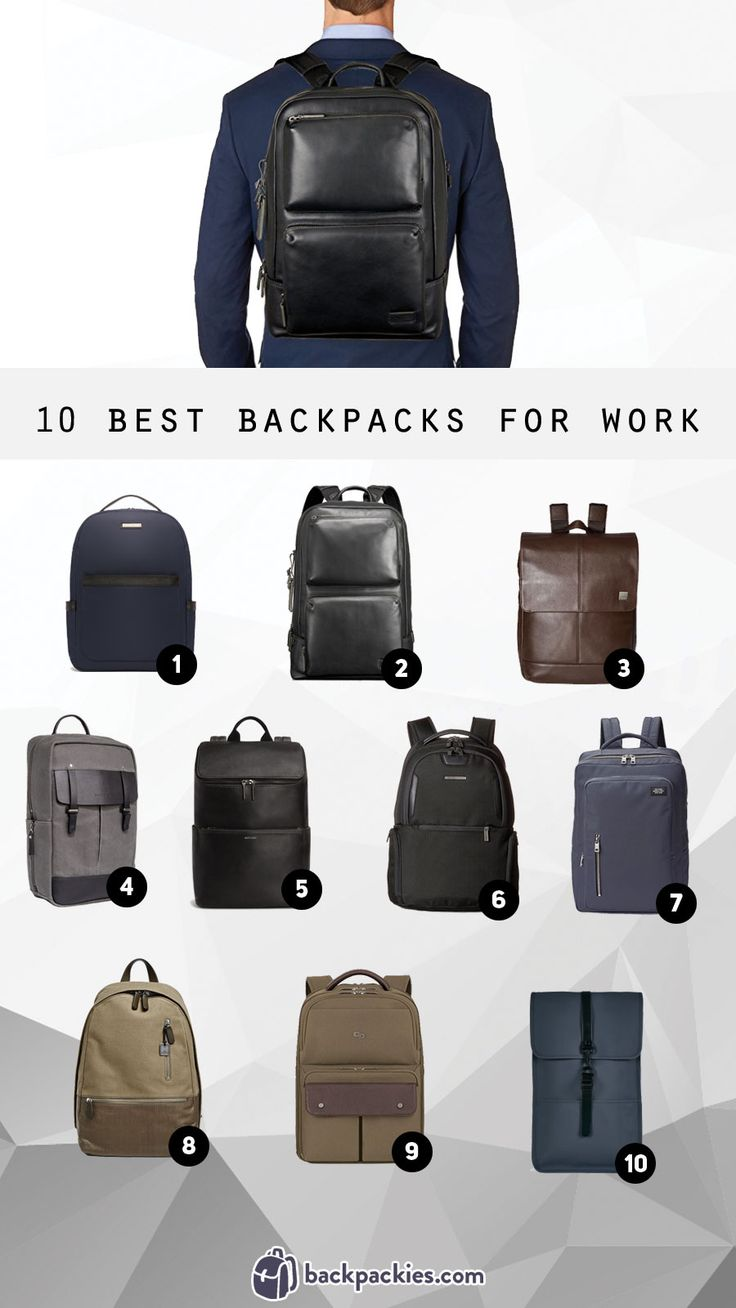 10 Best Backpacks for work - We review our favorite business backpacks for men https://backpackies.com/blog/10-best-backpacks-for-work-professional-and-stylish/