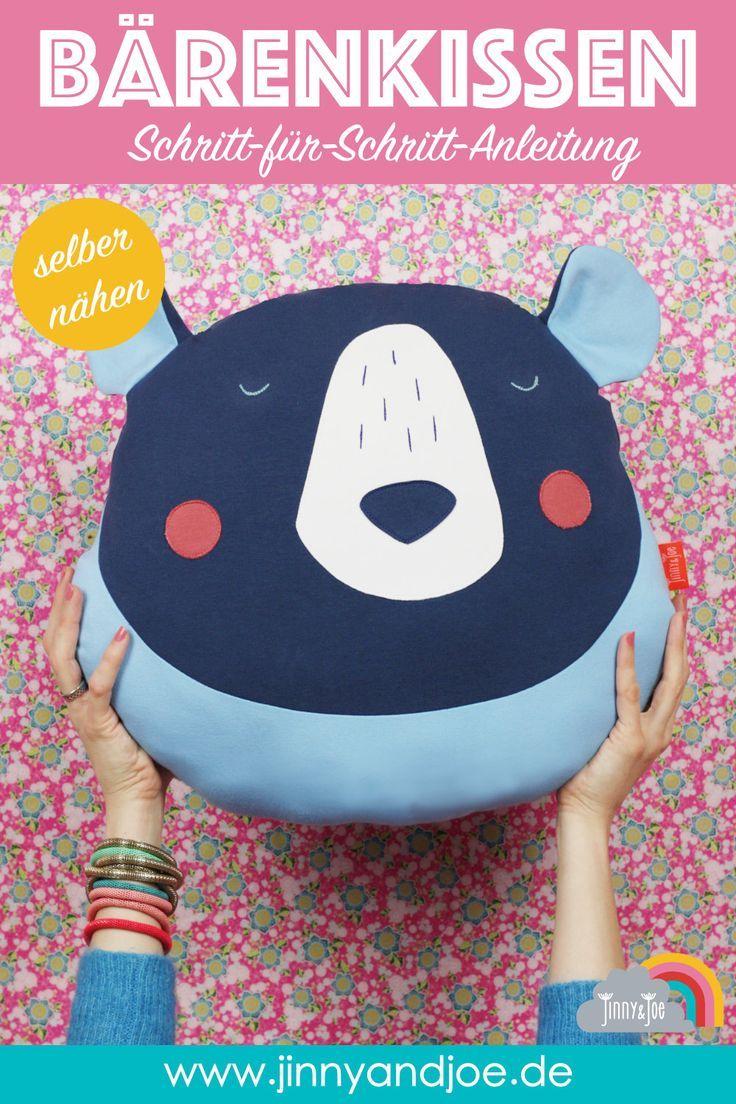 DIY Nähen – Bärenkissen Otto – Nähen Sie es einfach selbst