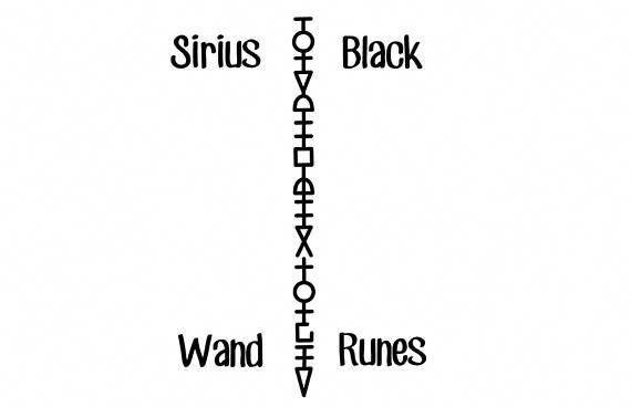 Black wand tattoo sirius [Harry Potter