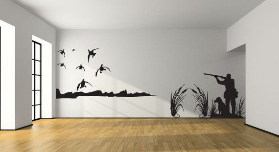 Mallard Duck Hunting Wall Decal Large Hunter by CoutureNaturally