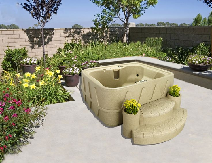 ar400 4 person 11 jets with easy plug n play and led waterfall - Wayfair Hot Tub