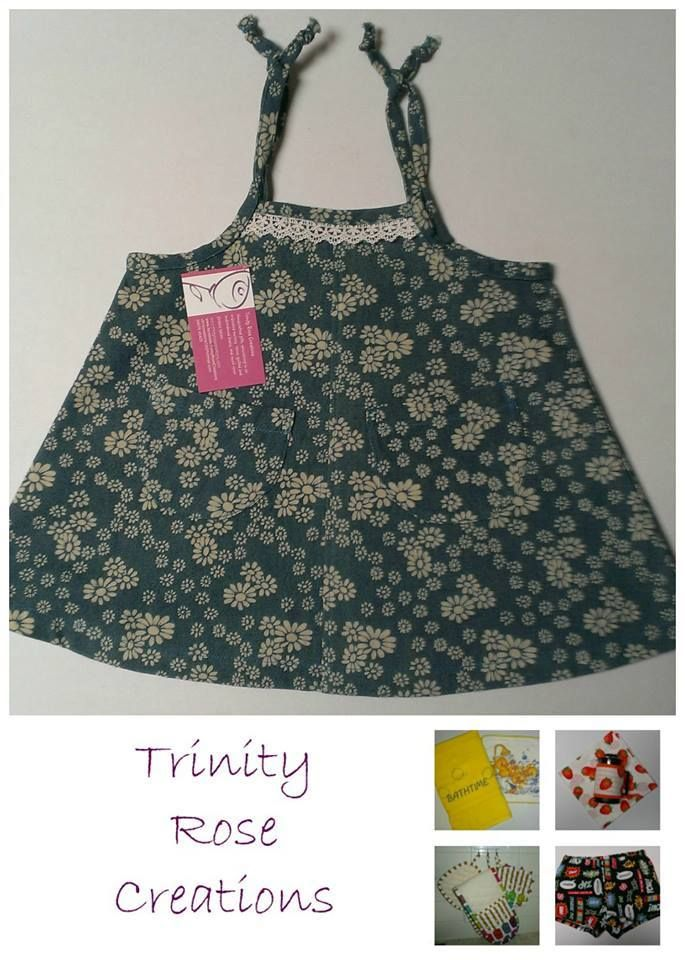 Handmade by Christine @ Trinity Rose Creations Baby/Toddler Dress For more information, please visit https://www.facebook.com/HandmadeMarkets