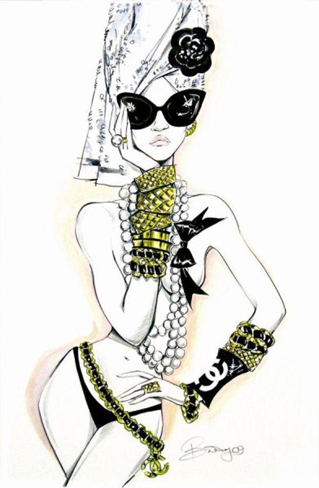 chanel: Chanel, Fashion Drawing, Fashion Sketches, Style, Fashionsketches, Fashion Design, Fashion Art, Fashion Illustrations