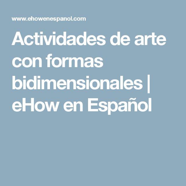 Actividades de arte con formas bidimensionales | eHow en Español