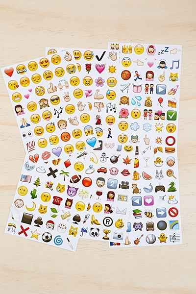 Emoji Sticker Sheet - Set Of 18 - Urban Outfitters $12