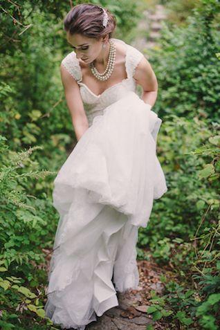 Romantic wedding dress | Sweet Root Village | see more on: http://burnettsboards.com/2015/02/midsummer-nights-dream/