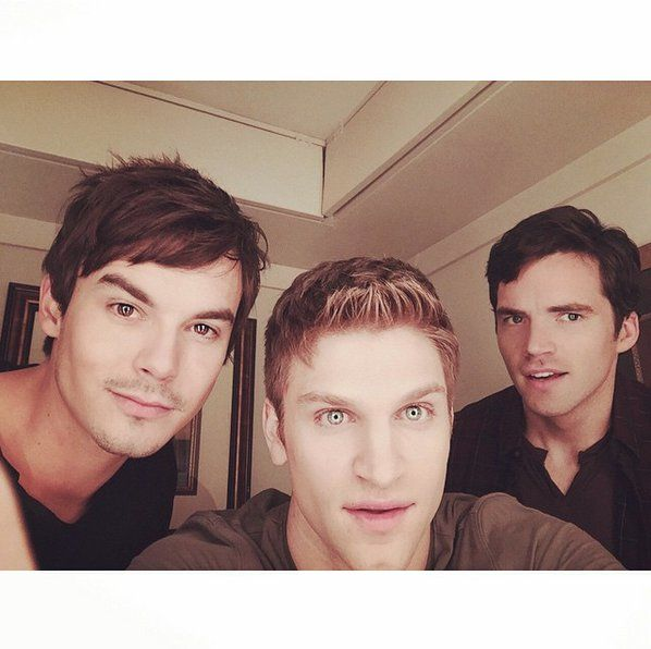 Pin for Later: 85 Photos of the Pretty Little Liars Boys That Will Make You Wish You Lived in Rosewood Tyler Blackburn, Keegan Allen, and Ian Harding