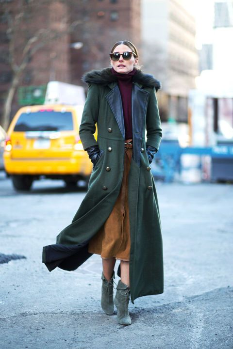 It only makes solid sense that the runways' main aesthetic reference—the '70s—would make its way to the street. The evidence: suedes, flares, furs, fringe and a general sense of insouciance. Pictured: Olivia Palermo