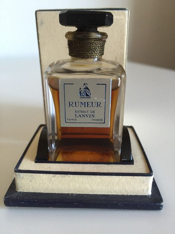 Very Rare Old Formula Sealed Lanvin Rumeur Extrait by PinVintage