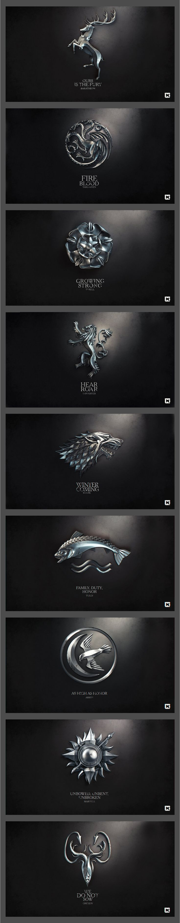 metalic series game of throne wallpapers by http://melaamory.deviantart.com/