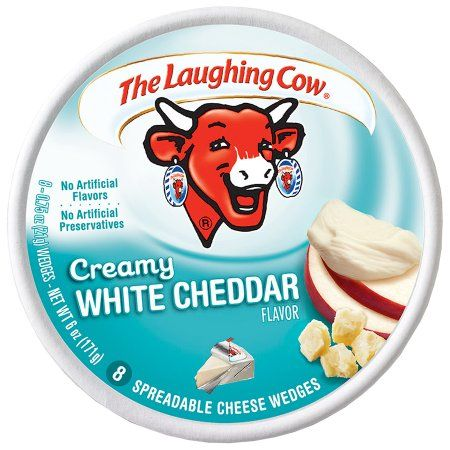 The Laughing Cow® Creamy White Chedar Flavor Spreadable Cheese 8-0.75 oz. Wedges