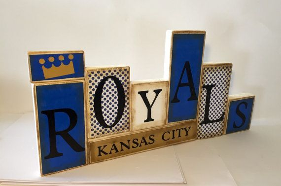 Kansas City Royals Word Blocks KC Wooden by GuidingPrintables
