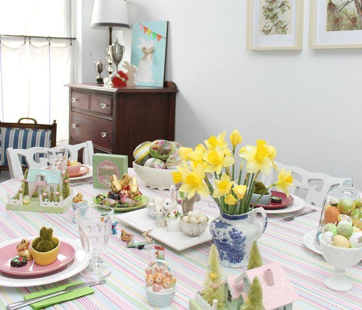 Last-Minute Pastel Easter Decor for Our Blue Cottage