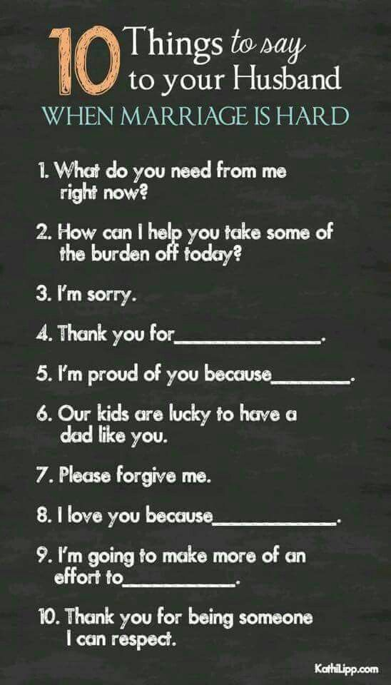 I'm so fortunate to have a Godly husband who does all of these things when times get tough. ❤ ps