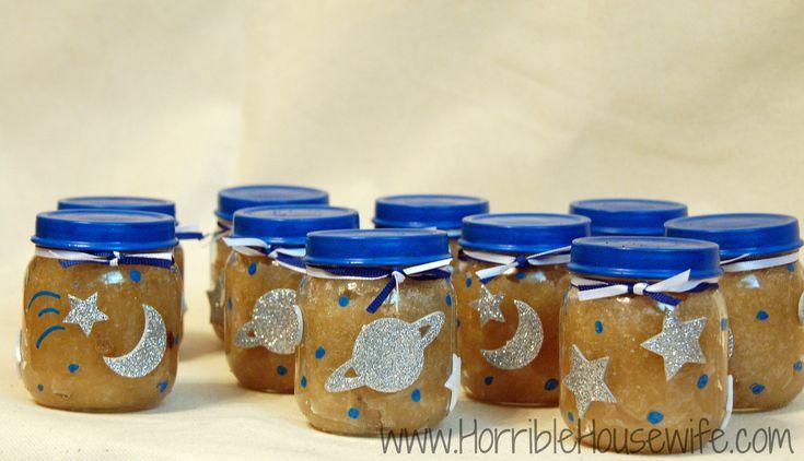 Sugar scrubs in baby food jars. Baby shower favors.
