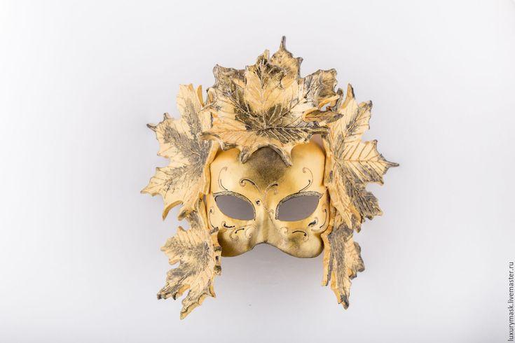 """Купить Венецианская маска """" Краски Осени"""" - золотой, маска, карнавальная маска, венецианская маска"""