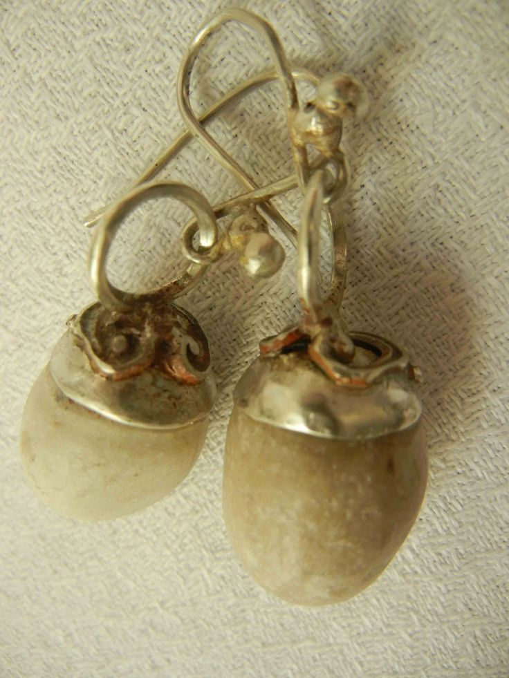 earrings - sterling silver/stones from angola