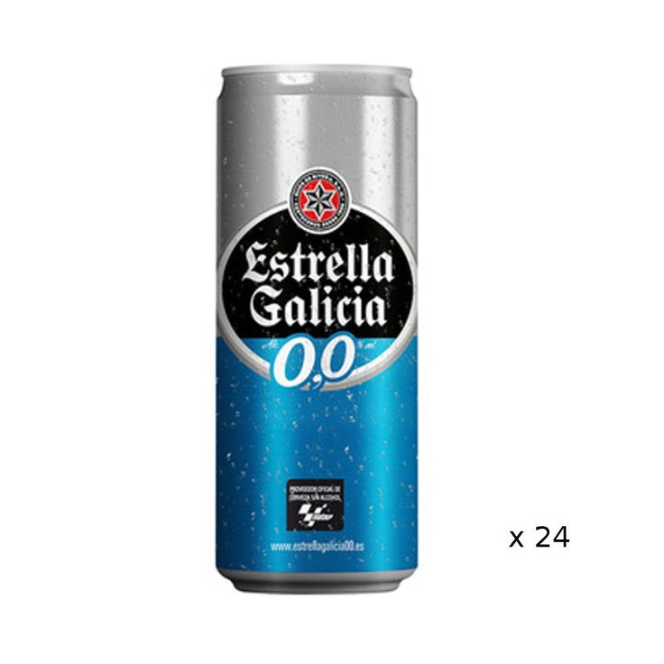 Alkoholfreie Bier Estrella Galicia 0,0º  Ein alkoholfreies Bier mit einem sehr frischen Duft mit Zitrusschalen . Wir liebe das Aussehen: goldgelb intensiv. Am Gaumen das Bier ohne Alkohol Bitterkeit und feste Spitze, die diesem Bier eine sehr trockene Ton verleiht. ideale Temperatur 5 ° C im Mund dienen wir ihre Dicke, ihre densitée schätzen, ist es eine Runde elegant und es hat einen bitteren Punkt, der auf der Zunge zergeht. Es ist eine lange und angenehme Bier zu schmecken