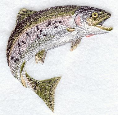 Rainbow Trout design (A4368) from www.Emblibrary.com