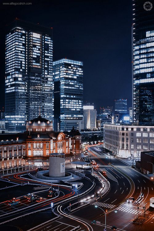 The Restored Tokyo Station Building At Night