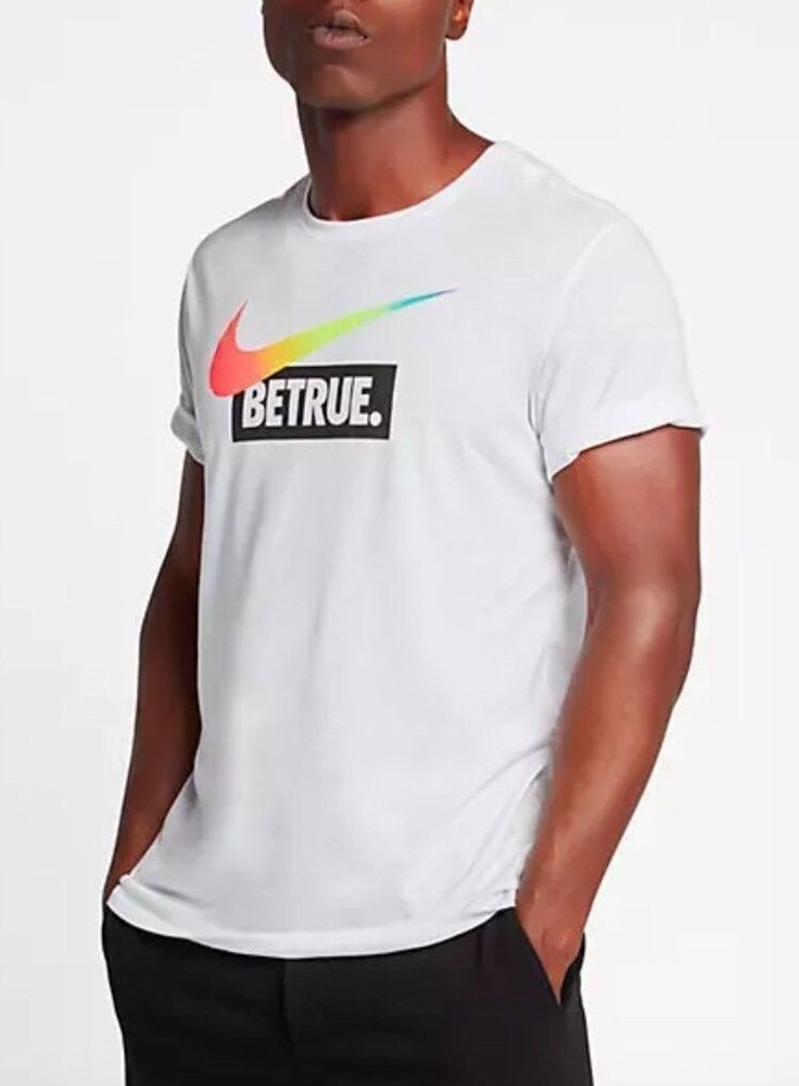 158d43c58d NIKE BETRUE LGBT BE TRUE SHIRT MULTI-COLOR RAINBOW PRIDE SWOOSH 939926 100  2XL #Nike #ShirtsTops