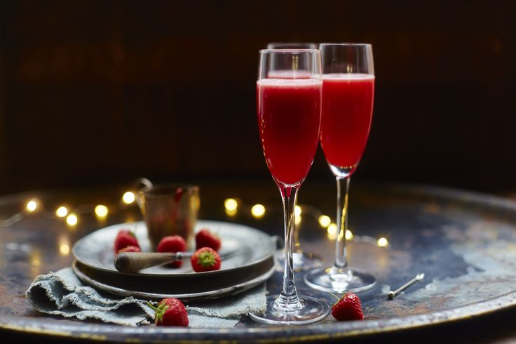 The Rossini is a twist on the classic Peach Bellini cocktail. Here Jamie Oliver shows you how to combine the fresh flavour of strawberry with the bubbles of Martini Prosecco to make this classy cocktail.   Photo by David Loftus