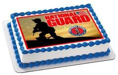 National Guard Edible Birthday Cake Topper OR Cupcake Topper, Decor - Edible Prints On Cake (Edible Cake &Cupcake Topper)