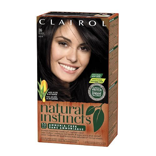 Clairol Natural Instincts Haircolor, Midnight Black 36 - 1 ea