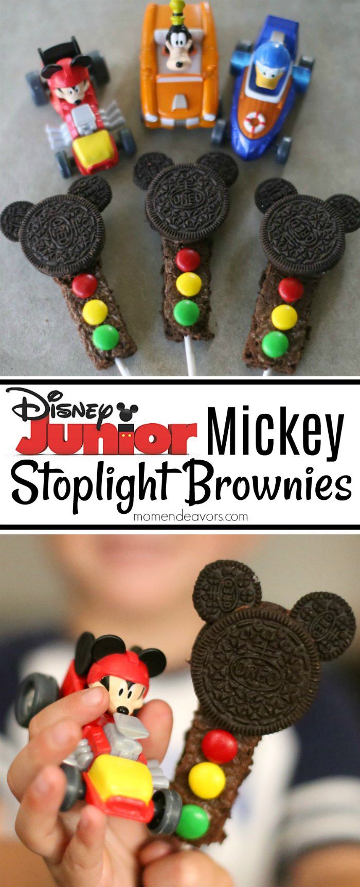 Have some Disney Junior fun with these Mickey Stoplight Brownie treats - perfect for watching new FriYAY episodes or a Mickey and the Roadster Racers party! AD